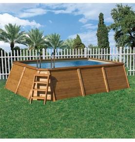 Piscinas de madera vivirenjardin for Piscina madera rectangular