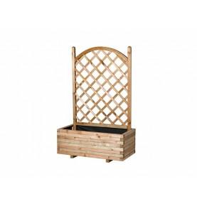 Macetero con celosía en arco de madera 150x100x50 cm