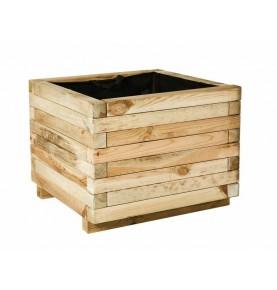 Macetero cuadrado de madera