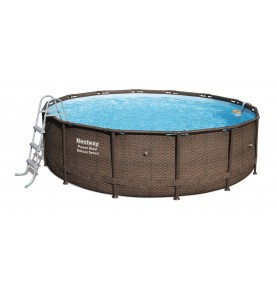 PISCINA POWER STEEL DISEÑO RATTAN V