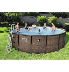 PISCINA POWER STEEL DISEÑO RATTAN VI